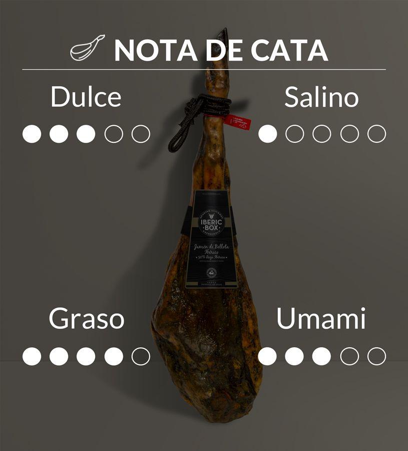 Jamón de Bellota 50% Raza Ibérica - Curado en Sierra de Aracena (7,5-8,5 kg)