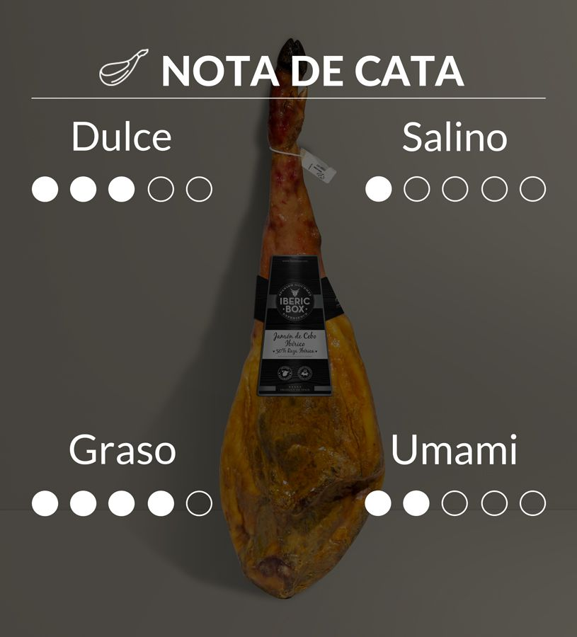 Jamón de Cebo 50% Raza Ibérica - Curado en Salamanca (7,5-8,5 kg)