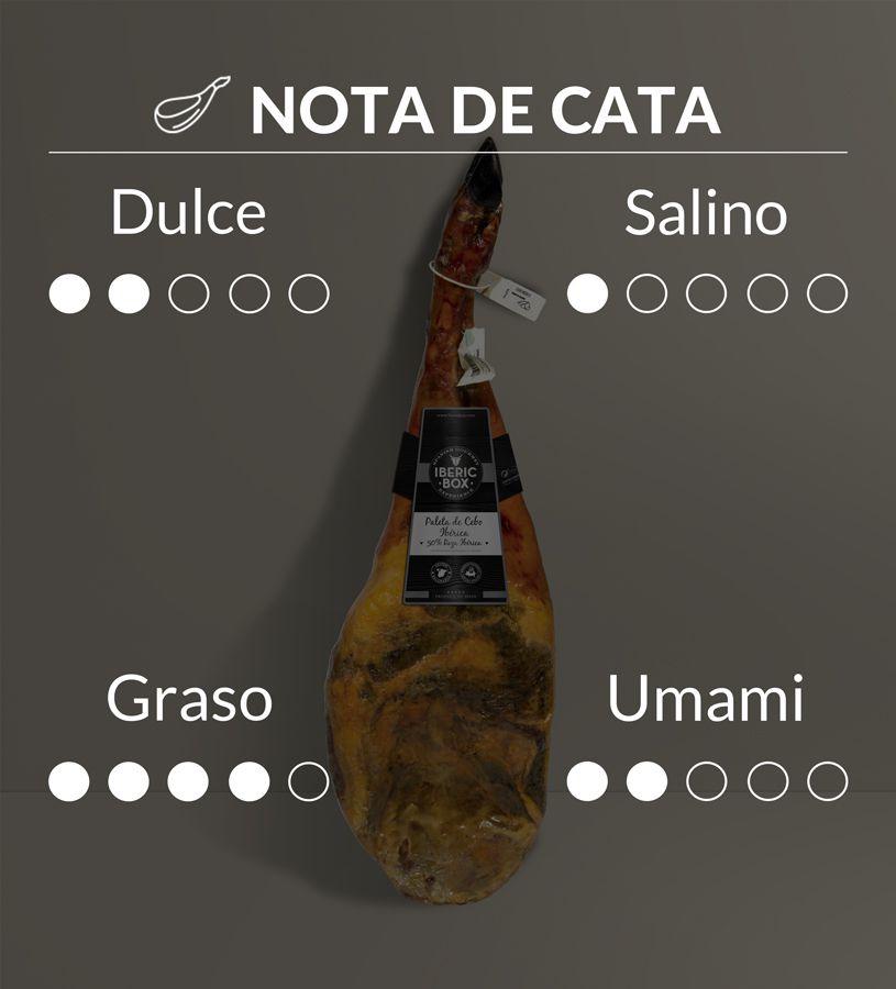 Paleta de Cebo 50% Raza Ibérica - Curada en Salamanca (4,5-5,5 kg)